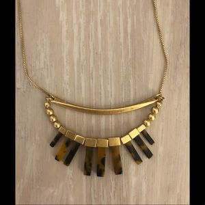 Madewell tortoise shell necklace